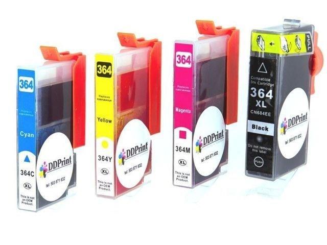 Zgodne z hp 364XL zestaw 4 kolorów tuszy do HP 3070A 5510 5514 5515 DD-Print DD-IH364XLCMYKN