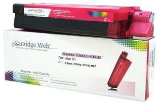 Toner Cartridge Web Magenta OKI C5800 zamiennik 43324422